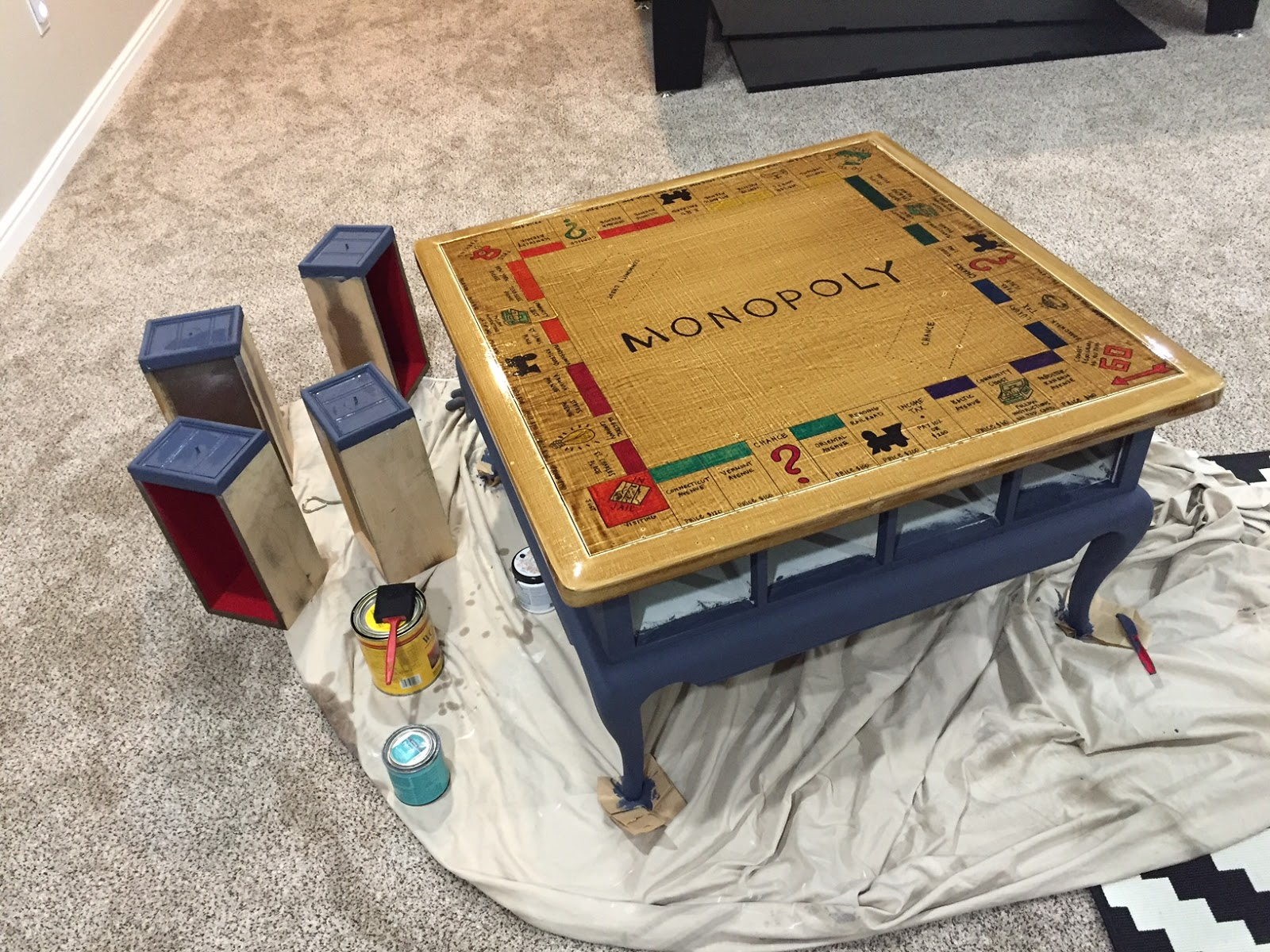 Diy Tutorial Monopoly Table Ooh Lah Lah Designs